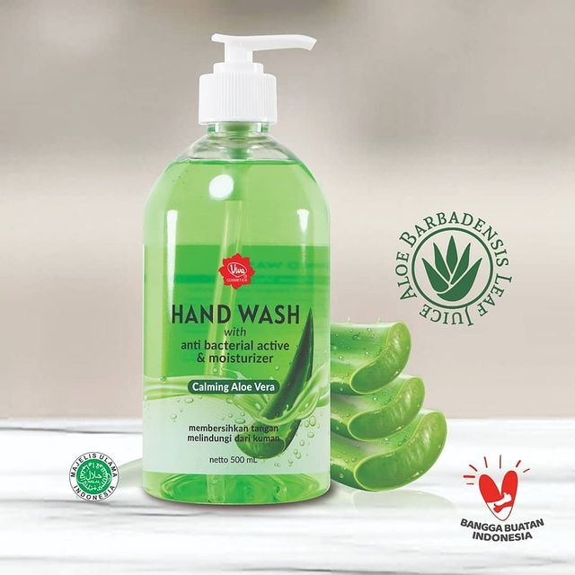 Viva Hand Wash Calming Aloe Vera 500 mL with Anti Bacterial Active & Moisturizer
